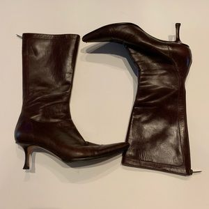 JIMMY CHOO vintage heeled leather boots